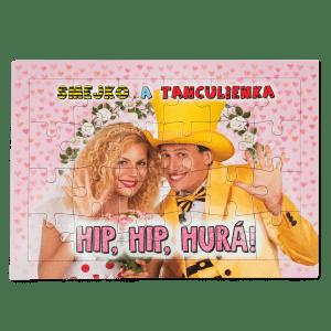 Puzzle Smejko a Tanculienka - Hip. hip, hurá!